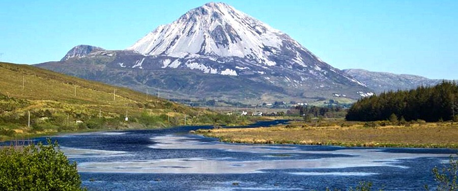 Errigal Mountain near Fairgreen Holiday Cottages, Dungloe, North West County Donegal, Ireland